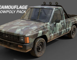 Toyota Hilux 1983-8 Camouflage Pack 3D asset low-poly