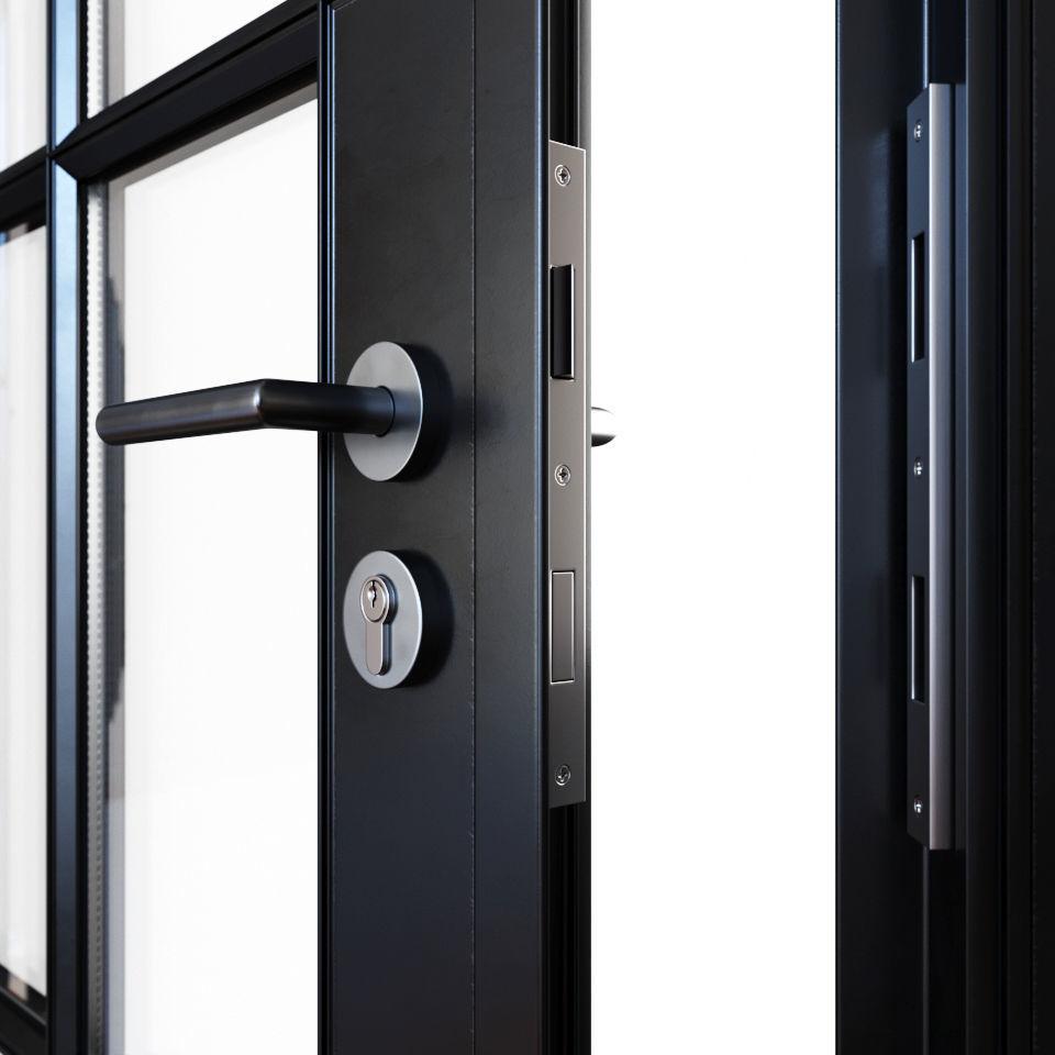 ... steel doors 3d model max obj fbx mtl 6 ... & 3D Steel doors | CGTrader