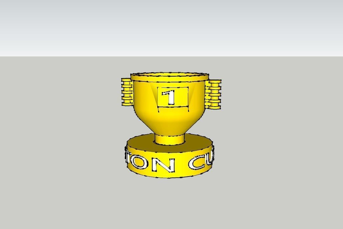 3d Print Model Piston Cup Cars Movie Duplo Lego