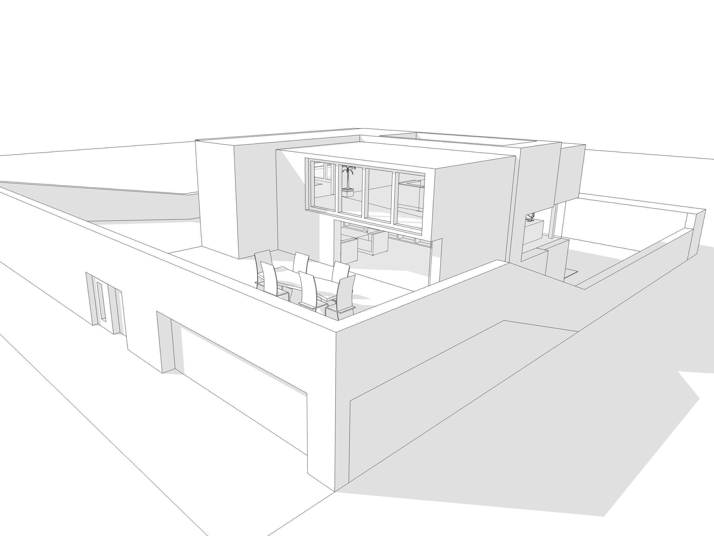 Modern House 3d Model 3ds Dae Dwg Skp 5