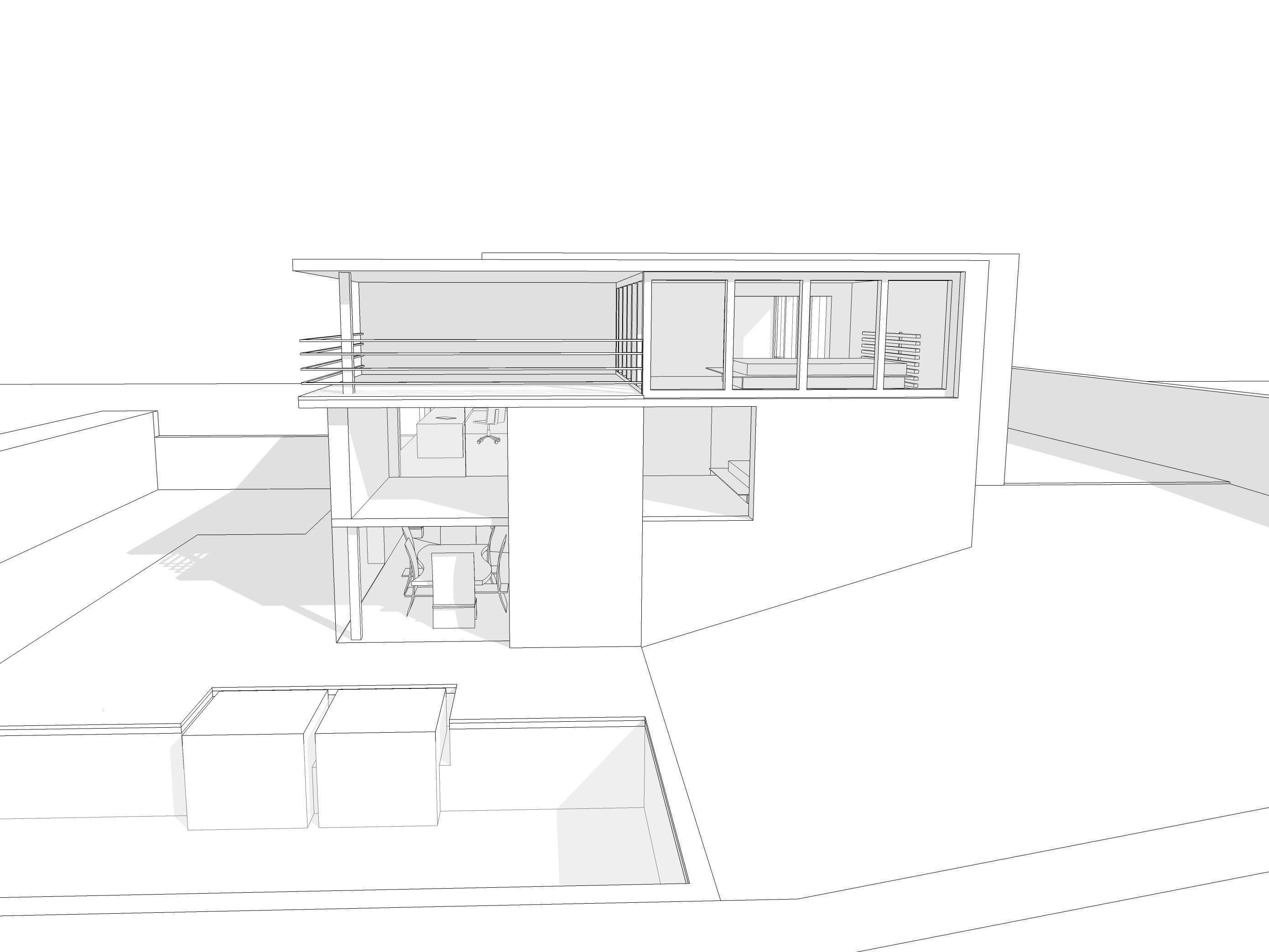 Modern House 3d Model 3ds Dae Dwg Skp 3