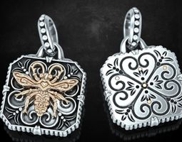 3D print model Stylish pendant with butterfly and patterns