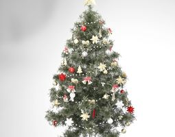 christmas tree 3D model decoration