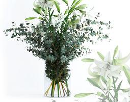 Lilies and Eucalyptus 3D
