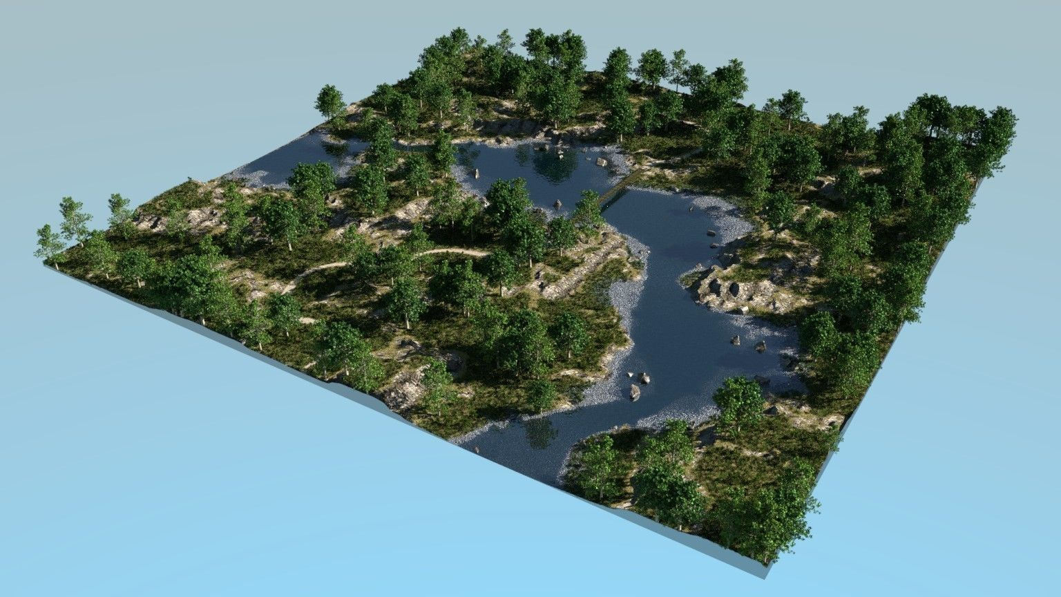 River bays in Blender | 3D model