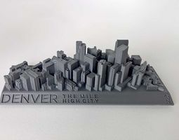 021a - Denver Cityscape - 3D print model