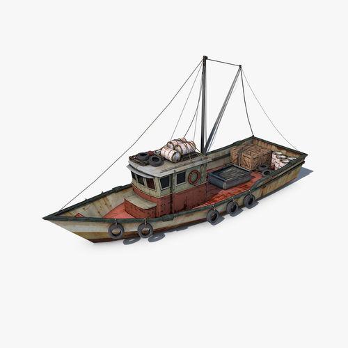 fishing vessel 3d model max obj mtl 3ds fbx c4d dae 1