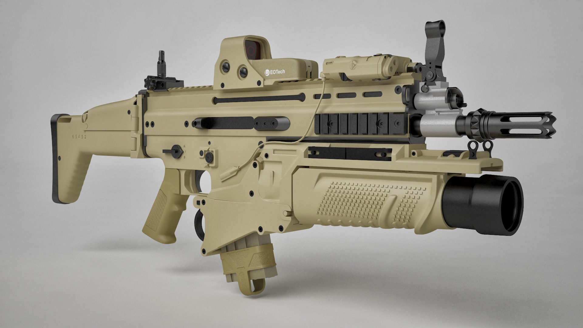 Kitchen Designers Jobs Combat Assault Rifle Fn Scar H 3d Model Max C4d