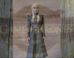 Daenerys Targaryen ready for full color 3D printing