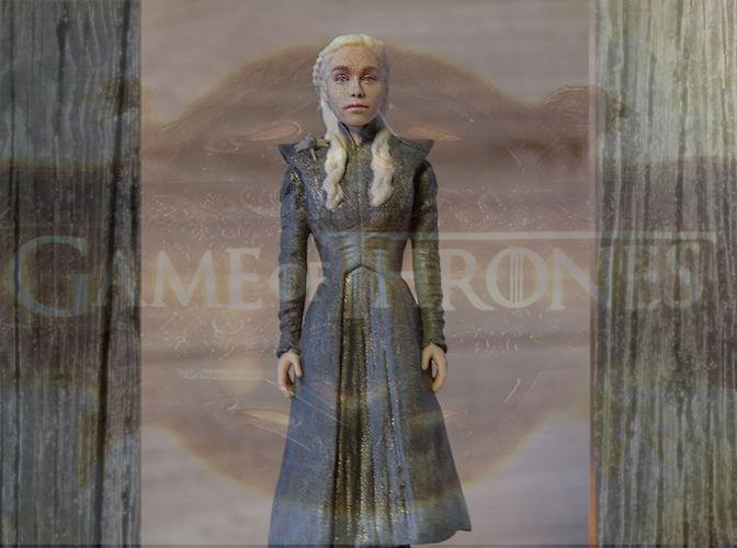 daenerys targaryen ready for full color 3d printing 3d model obj mtl stl wrl wrz 1