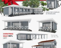 3D model American Recreation Center Houses 7 in 1 1