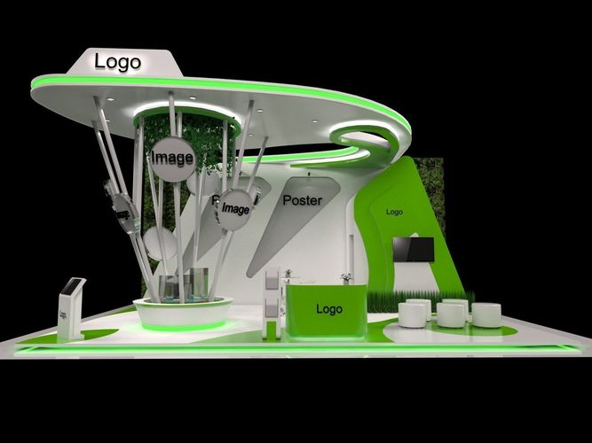 Exhibition Stand 3d Model Sketchup : Nature stand exhibition booth d model cgtrader