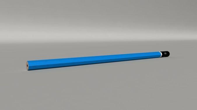 pencil 3d model low-poly rigged ma mb tga 1