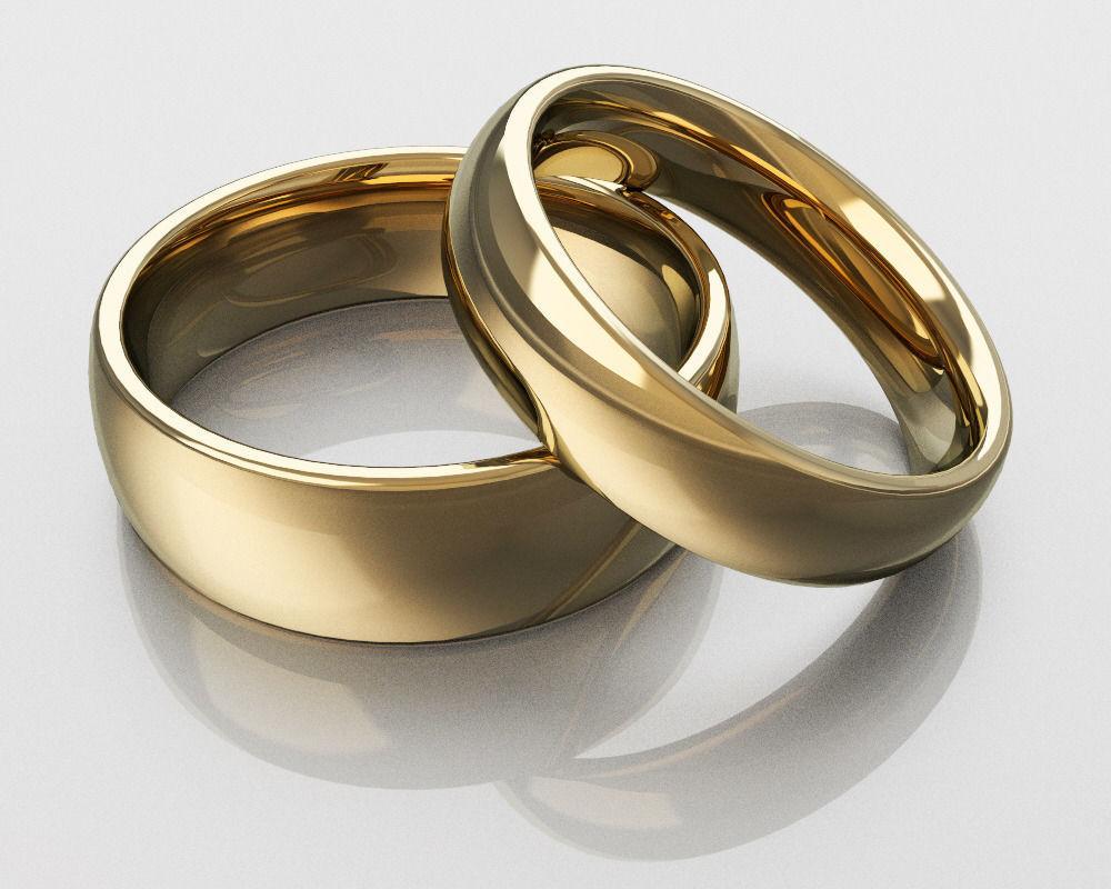 classic wedding rings free 3d model 3d printable stl 3dm. Black Bedroom Furniture Sets. Home Design Ideas