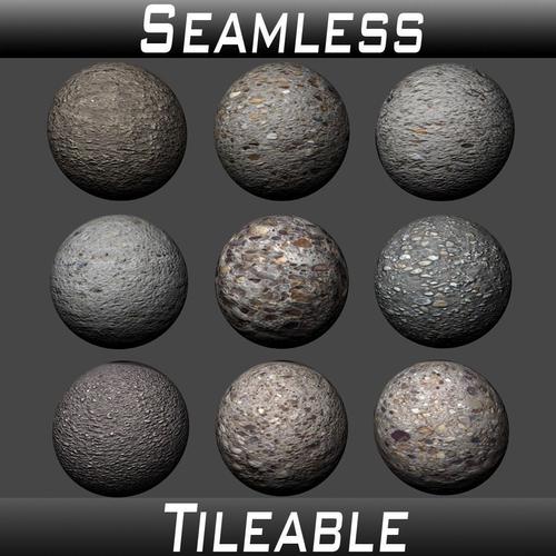 concrete textures pack 2 3d model  1