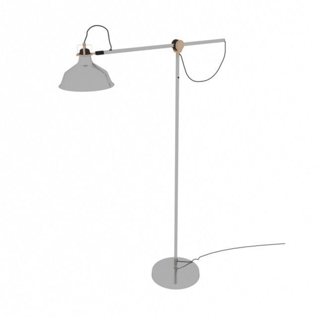 Beautiful ... Ikea Ranarp Floorlamp 3d Model Max Obj ...