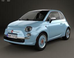 Fiat 500 San Remo 2014 3D