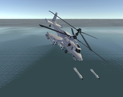 Fantasy Military Helicopter - Arctic Battle 3D model 4