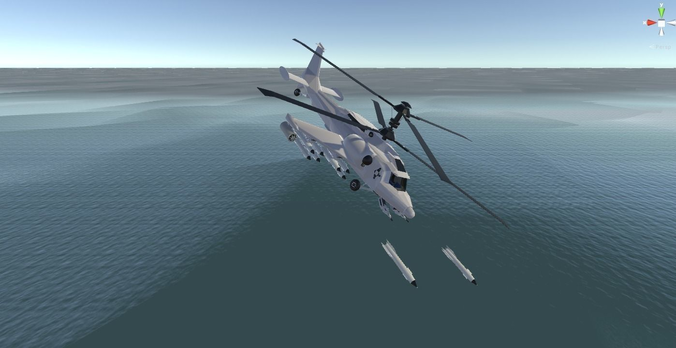 fantasy military helicopter - arctic battle bear - for games 3d model low-poly fbx 1