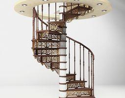 door SPIRAL STAIRS 3D model