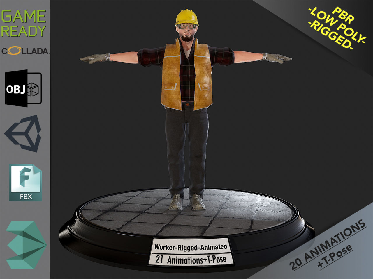 Worker1 Animations Pack | 3D model