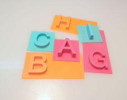 ABC 3D printable model