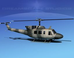 Bell UH-1N Iraqi Air Force 3D Model
