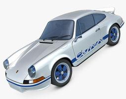3D model Porsche 911 Carrera RS 1973