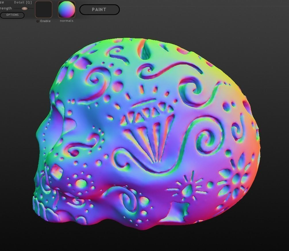 Patterned Skull 3d Model 3d Printable Obj Stl Cgtrader Com