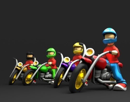 3D asset Bikers