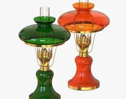 Antique Oil Lamp 3D