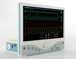 3D ECG Monitor GE Omni 719
