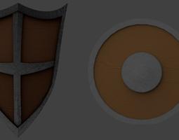 2x Detailed Shields 3D model