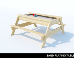 3D asset SAND PLAYING TABLE for KIDS