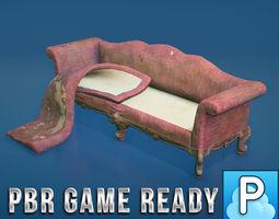 Vintage Sofa 3D asset