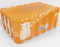 3D 24 pack shrinkwrapped 330ml sleek cans