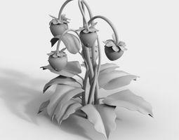 3D strawberries stylized