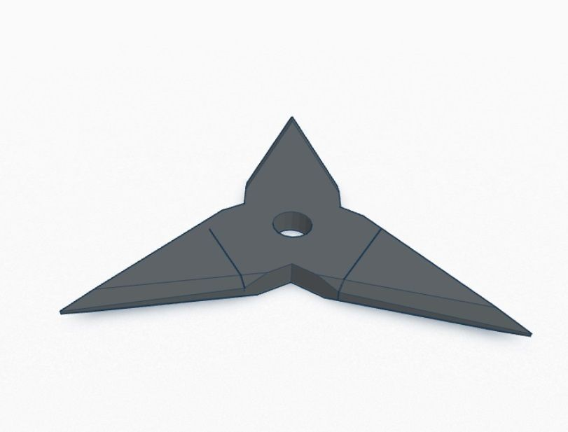 Ninja Star V3 3 Point 3d Model 3d Printable Stl