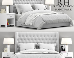 RH Teen Zadie Tufted bed 3D