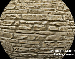 3D Stacked Stone Texture - Tileable 4k Photogrammetry