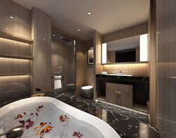 3D bathroom design complete model 60