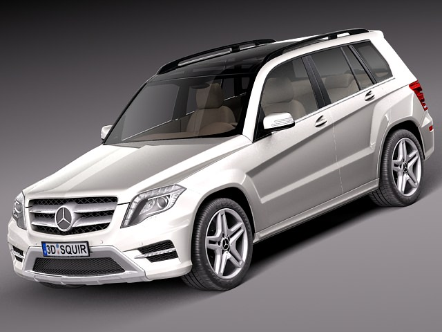 Mercedes benz glk 2013 3d model max obj 3ds fbx c4d for Mercedes benz suv models 2013