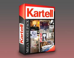 3D asset Kartell Models Mega Pack - 120 Models