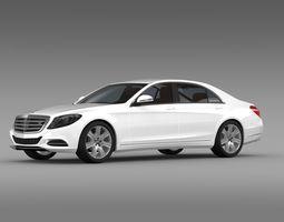Mercedes Benz S 600 Guard W222 2014 3D Model