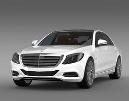 Mercedes Benz S 600 V12 W222 2014 3D Model