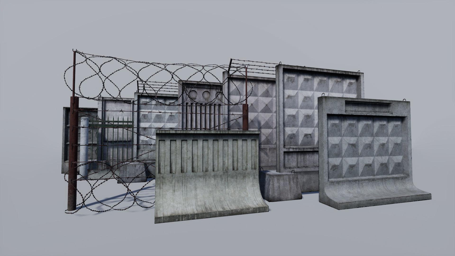 Modular concrete and metallic fences pack