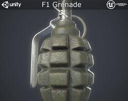 Soviet F1 Grenade 3D model