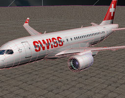 3D model Bombardier CSeries CS100