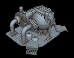 SCI-FI Power station 3D model
