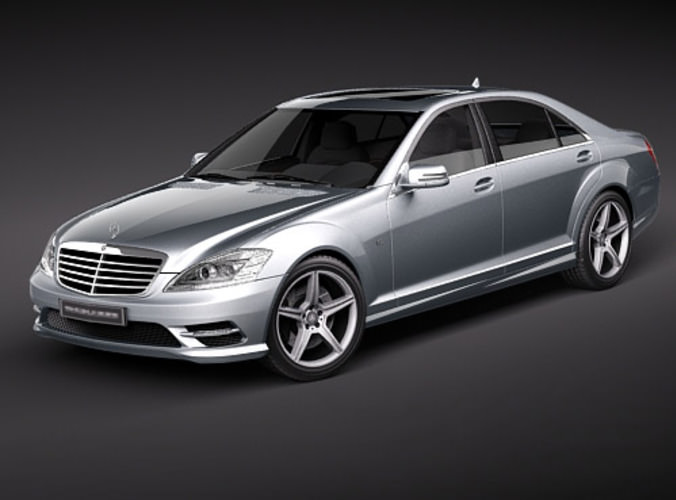 Mercedes s class amg 3d model max 3ds for Interieur mercedes classe b